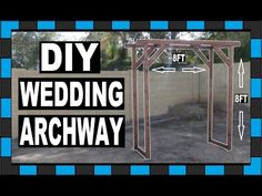 How to build a wedding archway! Today I will be building a wooden archway for my sisters wedding! This archway is a great because it is so . Diy Wedding Archway, Wedding Ceremony Backdrop, Ceremony Arch, Wedding Archways, Wooden Arch, Diy Outdoor Weddings, Cute Wedding Ideas, Diy Wedding Decorations, Wedding Shit