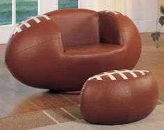 Fathers Day Gift Ideas 2013 - Football chair, also available in baseball, basketball and soccer ball!