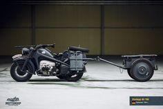 Rocketumblr | Zündapp KS 750 Ural Motorcycle, Motorcycle Trailer, Old Motorcycles, Hot Rides, Vintage Bikes, Armored Vehicles, War Machine, Military Vehicles, Motorbikes