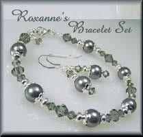 Roxanne's Custom Beaded Jewelry Bracelet Set by Jades Creations www.jadesbeadedjewelry.com