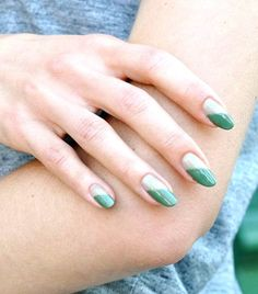 We rounded up photos of our favorite olive green nails. See them all here.