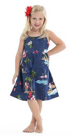 56ebe865a2 Hawaii Hangover Girl Elastic Strap Dress Christmas Dress Santa Navy 7-8.  Hawaii Hangover
