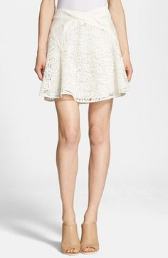 The+Kooples+Lace+&+Leather+Skirt+available+at+#Nordstrom