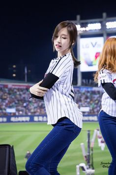 Myoui Mina (Twice) - LG Twins Baseball Game Pics