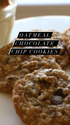 entertainingwithbeth on Instagram: Soft and chewy Oatmeal Chocolate Chip Cookies! On the blog and my YouTube Channel today! SO totally addicting and good!! Ha! Enjoy!… Baking Cookies, No Bake Cookies, Oatmeal Chocolate Chip Cookies, Christmas Cookies, Food Videos, Cookie Recipes, Clean Eating, Channel, Breakfast