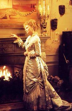 The Age of Innocence (1993) Michelle Pfeiffer as Ellen, Countess Olenska. Director: Martin Scorsese. #CostumeDesign: Gabriella Pescucci