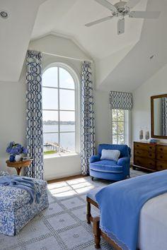 SLC Interiors - Interior Designer - South Hamilton - Beach - Coastal - Traditional - Bathroom - Bedroom - Breakfast Room - Dining Room - Family Room - Cozy - Fresh - White - Blue - High Ceilings - Upholstered Chair - Tiled Floor - Prints