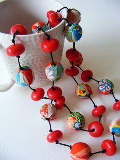 Japanese fabric necklace
