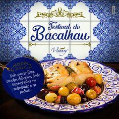 Preparamos um delicioso Festival de Bacalhau toda quarta feira do mês de fevereiro até 23 de março, com todas as delicias feitas com esse delicioso ingrediente português. Então anote ai na sua agenda todas as quartas aqui na Vianney tem Festival de Bacalhau.