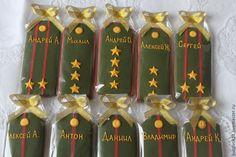 """Купить Имбирные пряники """"Погоны"""" - хаки, погоны, 23 февраля, 23 февраля подарок"""