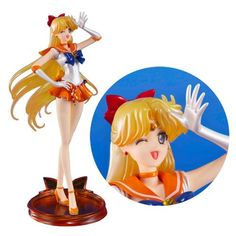 Sailor Moon Crystal Sailor Venus Figuarts Zero Statue - Bandai Tamashii Nations - Sailor Moon - Statues at Entertainment Earth