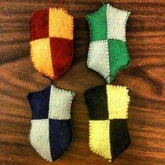 Harry Potter House Crest Ornaments - NEEDLEWORK