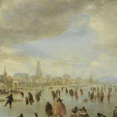 Riviergezicht bij winter, Aert van der Neer, ca. 1655 - ca. 1660 - Happy Holidays!-Verzameld werk van Rijksmuseum - Alle Rijksstudio's - Rijksstudio - Rijksmuseum