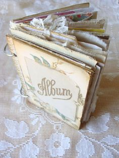 Handcrafted Journal Album Scrap Mini Album Handmade by ShabbySoul