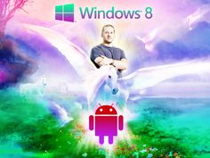 Meeeerge! Jony Ive redesigns Windows 8 and Android (at the same time). Credit @Thomas_Glaser
