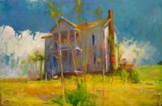 "Stunning  = City Art Gallery Greenville NC by Richard Fennell. ""House at Pinney Creek."""