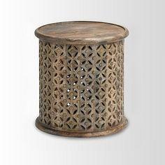 Carved Wood Side TableWest Elm$199