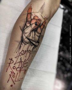 Sex love rock n roll tattoo girl