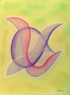 Beflügelt, Pastell auf Papier, BxH 36x48 cm, Dino Buchmann