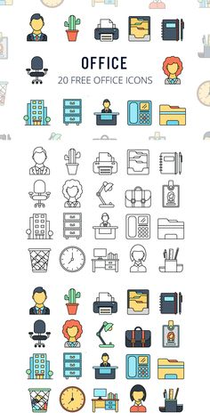 Before you Office Vector Free Icon Set. It consists of 20 high-quality icons. All graphics are vector Icons Web, It Icons, Vector Icons, Vector Free, Design Ios, Flat Design, Work Icon, Office Icon, Bible Doodling