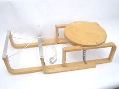 The Frost(a) Sledge - IKEA Hackers:frosta stool Chaise Ikea, Ikea Chair, Ikea Furniture, Kitchen Furniture, Desk Chairs, Office Chairs, Ikea Hacks, Frosta Ikea, Hackers Ikea