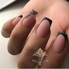17 Ideen French Pedicure Designs Black Tips für 2019 Stylish Nails, Trendy Nails, Pedicure Designs, Nail Art Designs, Pedicure Ideas, Ongles Forts, French Pedicure, Latest Nail Art, Square Nails