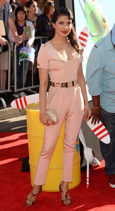 Priyanka Chopra at the premiere of Planes. ❤️ Love that jumpsuit ❤️
