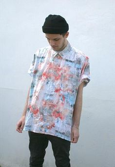 Unique Vintage Faded #Hawaiian Pin Up #Print Shirt by New Weekends