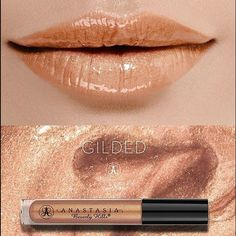 """ABH """"Gilded"""" Lip gloss Brand new, never used very pigmented gold shimmery Anastasia Beverly Hills lip gloss. No box! Makeup Lip Balm & Gloss"""