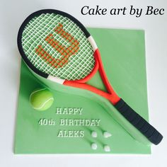 Tennis cake by Cake art by Bec.