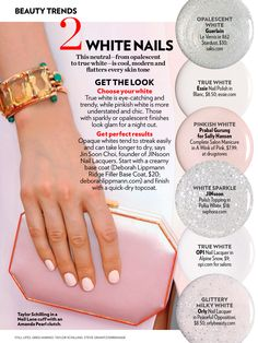 White nails spring-summer 2014 trend