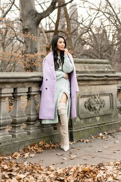 Winter in Mint and Lavender - Wendy's Lookbook