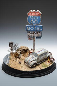 Route 66 Motel & VW Type 1 1/35 Scale Model Diorama