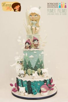 Frozen story - by MaryWay @ CakesDecor.com - cake decorating website