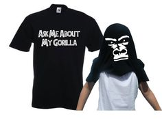Ask Me About My Gorilla Flip Cool Funny T Shirt   Trends Zen