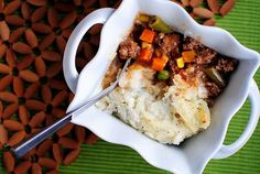 Shepherd's Pie with Healthier Mashed Potatoes (That Actually Taste Good!) will fool even the most die-hard mashed potato lover!