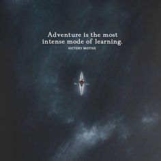 Positive Quotes :    QUOTATION – Image :    Quotes Of the day  – Description  Adventure is the most intense mode of learning..  Sharing is Power  – Don't forget to share this quote !    https://hallofquotes.com/2018/04/16/positive-quotes-adventure-is-the-most-intense-mode-of-learning/