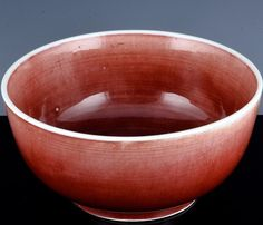 EXTREMELY RARE c1700 CHINESE KANGXI LANGYAO RED FLAMBE GLAZE LARGE BOWL VERMEER2 Large Bowl, Serving Bowls, Glaze, Porcelain, Chinese, Pottery, Antiques, Tableware, Red