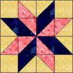Lemoyne star..triangles & 4 squares