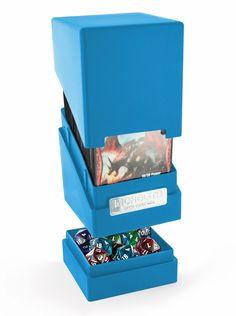 Deck Case Ultimate Guard Magic MONOLITH Blue Blu Porta Mazzo Scatola Tower Box