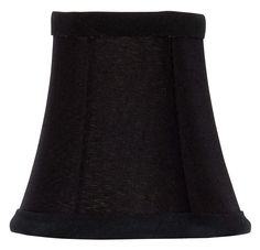 Upgradelights Black with Gold Parchment 4 Inch Clip On Chandelier Shade (Set of 5) 2.5x4x4