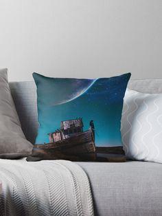Achetez le design «A crow on a boat by GEN Z» par Gen-Z sur les produits suivants: Crow, Cushions, Boat, Throw Pillows, Artist, Artwork, Design, Products, Toss Pillows