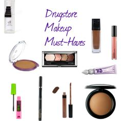 """""""Drugstore Makeup Must-Haves"""" by Shukkiie on Polyvore"""