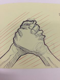 Anatomy of a handshake - ballpoint sketch - Jack Darby