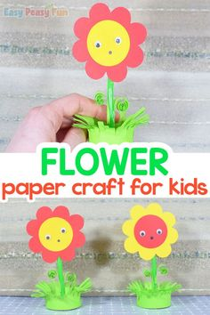 Love spring and creating paper different flowers? Today we present you a simple way to make a paper flower in a pot craft in under 30 minutes. Kids Learning Activities, Spring Activities, Fun Learning, Baby Crafts, Crafts To Do, Arts And Crafts, Kids Crafts, Paper Flowers Craft, Flower Crafts