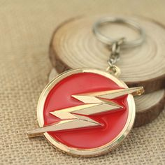 The Flash Super Hero Keychain Metal Key Chain DC Comic Justice League Superhero Figure Keychain