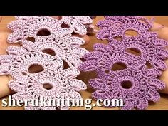 Crochet Floral Lace Tutorial : 12 Beautiful Crochet Lace Patterns – Crochet Q & A Crochet Motifs, Form Crochet, Basic Crochet Stitches, Thread Crochet, Crochet Crafts, Knit Crochet, Tunisian Crochet, Crochet Granny, Lace Knitting