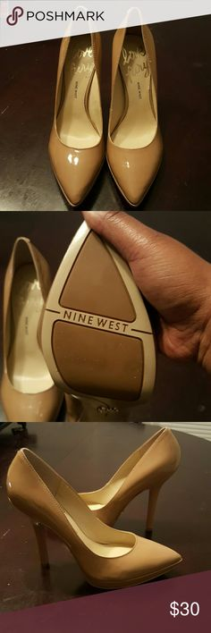 NWOT Nude Pumps Never worn Nine West Love Fury Heels 4 inches Nine West Shoes Heels