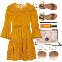 Rome Walk by mezzanotteofficial on Polyvore featuring Cinq à Sept, Hollister Co., GUESS, Chloé, Shiffa, orange and brown
