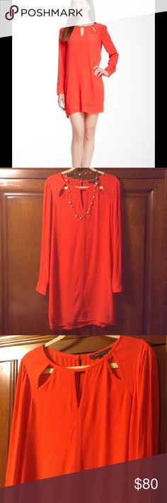 BCBGMAXAZRIA Berry Red dress size S🌹 Stunning long sleeve dress. Perfect condition, 3 keyhole detail along the collar to add extra sex appeal to this already HOT piece!🔥 BCBGMaxAzria Dresses Long Sleeve